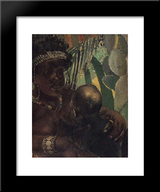 Negro: Modern Black Framed Art Print by Kuzma Petrov Vodkin