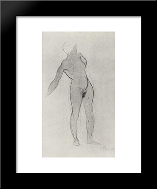 The Model: Modern Black Framed Art Print by Kuzma Petrov Vodkin