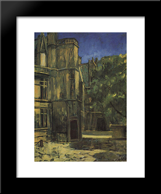 Type The Cluny Museum In Paris: Modern Black Framed Art Print by Kuzma Petrov Vodkin