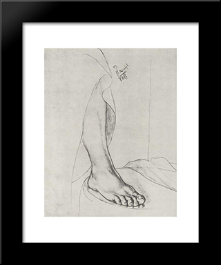 Leg: Modern Black Framed Art Print by Kuzma Petrov Vodkin