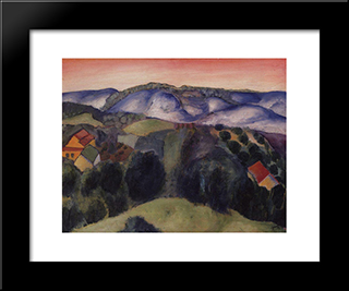 Neighborhoods Khvalynsk: Modern Black Framed Art Print by Kuzma Petrov Vodkin