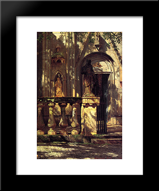Sunlight And Shadow Study: Modern Black Framed Art Print by Albert Bierstadt