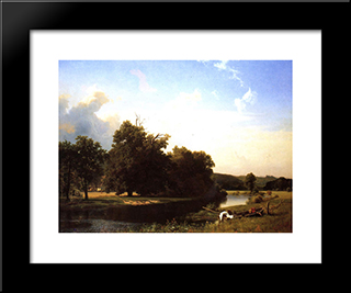 Westphalia: Modern Black Framed Art Print by Albert Bierstadt