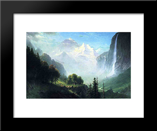 Staubbach Falls, Near Lauterbrunnen, Switzerland: Modern Black Framed Art Print by Albert Bierstadt