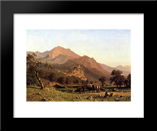 Rocca De Secca: Modern Black Framed Art Print by Albert Bierstadt