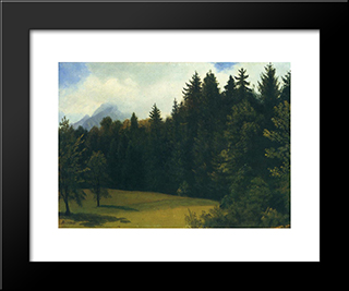 Mountain Resort: Modern Black Framed Art Print by Albert Bierstadt