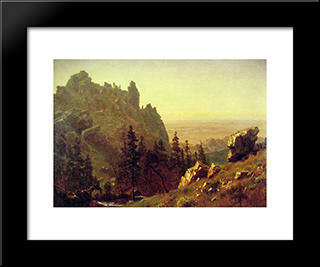 Wind River Country: Modern Black Framed Art Print by Albert Bierstadt