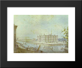 View Of Saint Michael'S Castle: Modern Black Framed Art Print by Fyodor Alekseyev