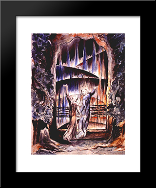Illustration To Dante'S Divine Comedy: Modern Black Framed Art Print by William Blake