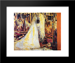 The Circus Horse: Modern Black Framed Art Print by Pierre Bonnard