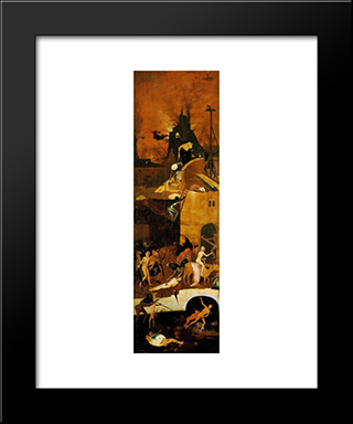 Haywain (Detail): Modern Black Framed Art Print by Hieronymus Bosch
