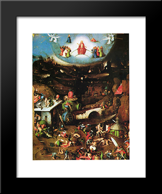The Last Judgement (Detail): Modern Black Framed Art Print by Hieronymus Bosch