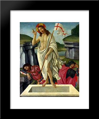 The Resurrection: Modern Black Framed Art Print by Sandro Botticelli