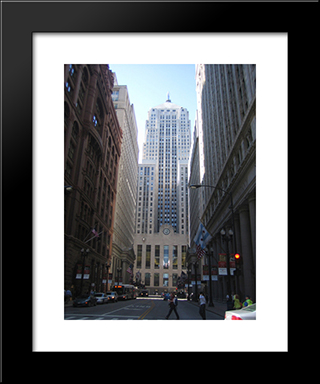 Chicago Board Of Trade Building: Modern Black Framed Art Print by Cityscape Series