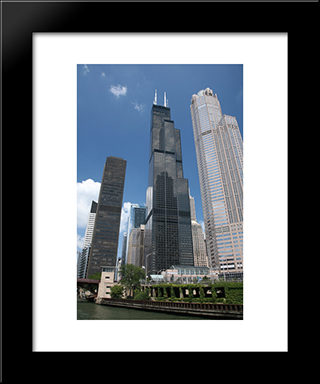 Willis Tower (Sears Tower): Modern Black Framed Art Print by Cityscape Series