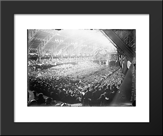 1912 Republican National Convention: Modern Black Framed Art Print by Cityscape Series