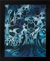 Indigo Patterns I: Framed Art Print by Adkin, Arielle