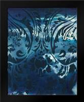Indigo Patterns IV: Framed Art Print by Adkin, Arielle