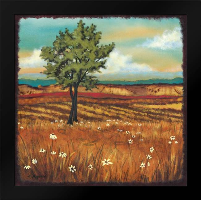 Distant Fields II: Framed Art Print by Angeney, Tamara