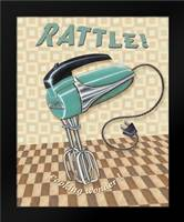 Nifty Fifties - Rattle: Framed Art Print by Audrey, Charlene