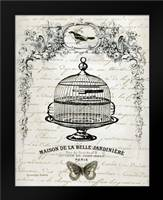 French Birdcage I: Framed Art Print by Babbit, Gwendolyn