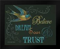 Believe and Bird: Framed Art Print by Babbitt, Gwendolyn