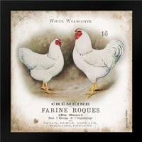 Chicken Pair I: Framed Art Print by Babbitt, Gwendolyn