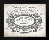 French Letterhead II: Framed Art Print by Babbitt, Gwendolyn