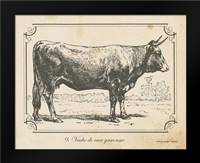 Farm Bull I: Framed Art Print by Babbitt, Gwendolyn