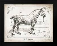 Farm Horse I: Framed Art Print by Babbitt, Gwendolyn