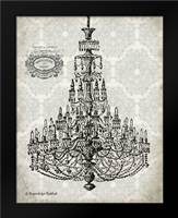 Vintage Chandelier I: Framed Art Print by Babbitt, Gwendolyn