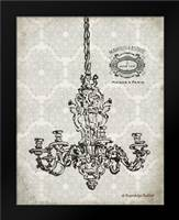 Vintage Chandelier II: Framed Art Print by Babbitt, Gwendolyn