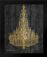 Gold Chandelier I: Framed Art Print by Babbitt, Gwendolyn