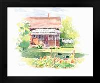 Ridgefield Cottage: Framed Art Print by Babbitt, Gwendolyn