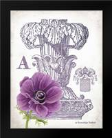 Column and Flower A: Framed Art Print by Babbitt, Gwendolyn