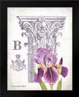 Column and Flower B: Framed Art Print by Babbitt, Gwendolyn