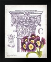 Column and Flower C: Framed Art Print by Babbitt, Gwendolyn