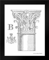 Gray Column B: Framed Art Print by Babbitt, Gwendolyn