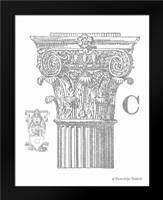 Gray Column C: Framed Art Print by Babbitt, Gwendolyn