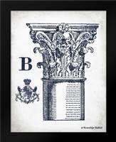 Indigo Column B: Framed Art Print by Babbitt, Gwendolyn
