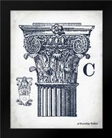 Indigo Column C: Framed Art Print by Babbitt, Gwendolyn