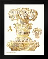 Gold Column A: Framed Art Print by Babbitt, Gwendolyn