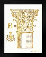 Gold Column B: Framed Art Print by Babbitt, Gwendolyn