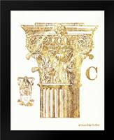 Gold Column C: Framed Art Print by Babbitt, Gwendolyn