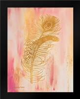 Gold on Pink I: Framed Art Print by Babbitt, Gwendolyn