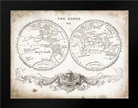 Zone World Map I: Framed Art Print by Babbit, Gwendolyn