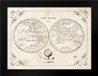 Zone World Map II: Framed Art Print by Babbit, Gwendolyn