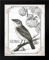 Bird Sing: Framed Art Print by Babbitt, Gwendolyn