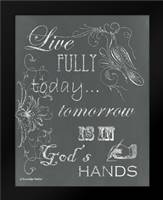 Live Fully Chalkboard: Framed Art Print by Babbitt, Gwendolyn