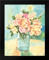 Roses In Jar: Framed Art Print by Babbitt, Gwendolyn